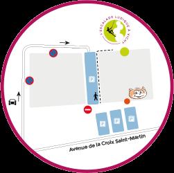 Acces et adresse de la salle d'escalade vertical limit